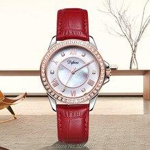 цена на Difini watch casual fashion ladies watch belt diamond watch female waterproof quartz watch birthday gift Korean female watch