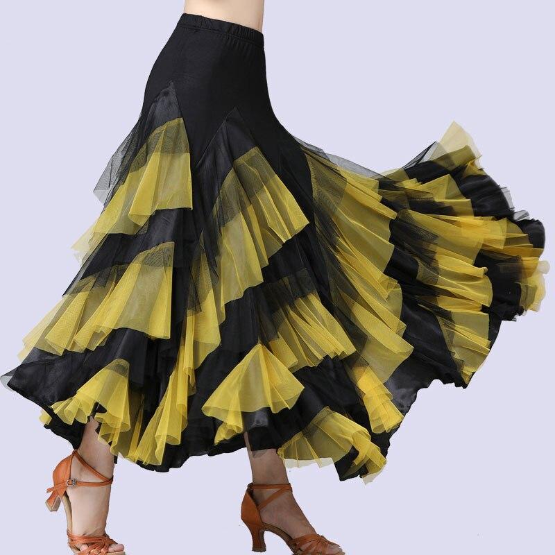 Ballroom Dance Skirt Modern Ballroom Dance Skirt Swing Long Skirt New Stage Competition Suit Waltz Swing Skirt 2020