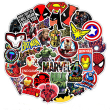 50PCS Marvel The Avengers Super Hero Stickers pattern Sticker For Skateboard Guitar Luggage Motorcycle Car Phone Laptop