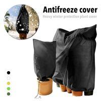 Cobertura de Inverno Capa de Proteção de Inverno pesado Planta Anti-geada Zíper E Saco de Cordão Não-tecido de Proteção Frio Anticongelante Planta