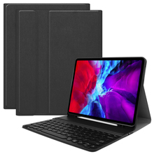 For iPad Pro 12.9 Inch 2020 Case Leather 7 Color Backlit Bluetooth USA Keyboard Tablet Case For iPad Pro 12.9 2020 Case Pen Slot цена 2017