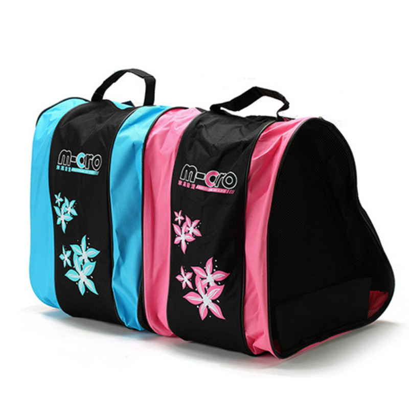 Professional Ice Ski Snow Boots Bag Unisex Triangle Shape Roller Skate Bag Single Shoulder Skating Shoes Storage Backpack -8