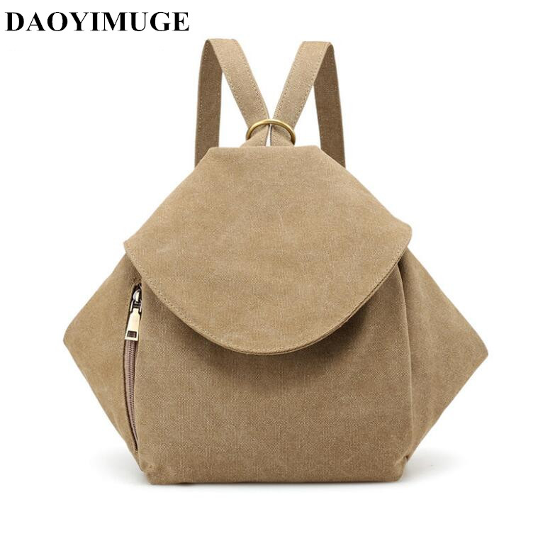 DAOYIMUGE Brand Backpack Fashion Students Go To School Bags Outdoor Travel Canvas Bags For Men And Women