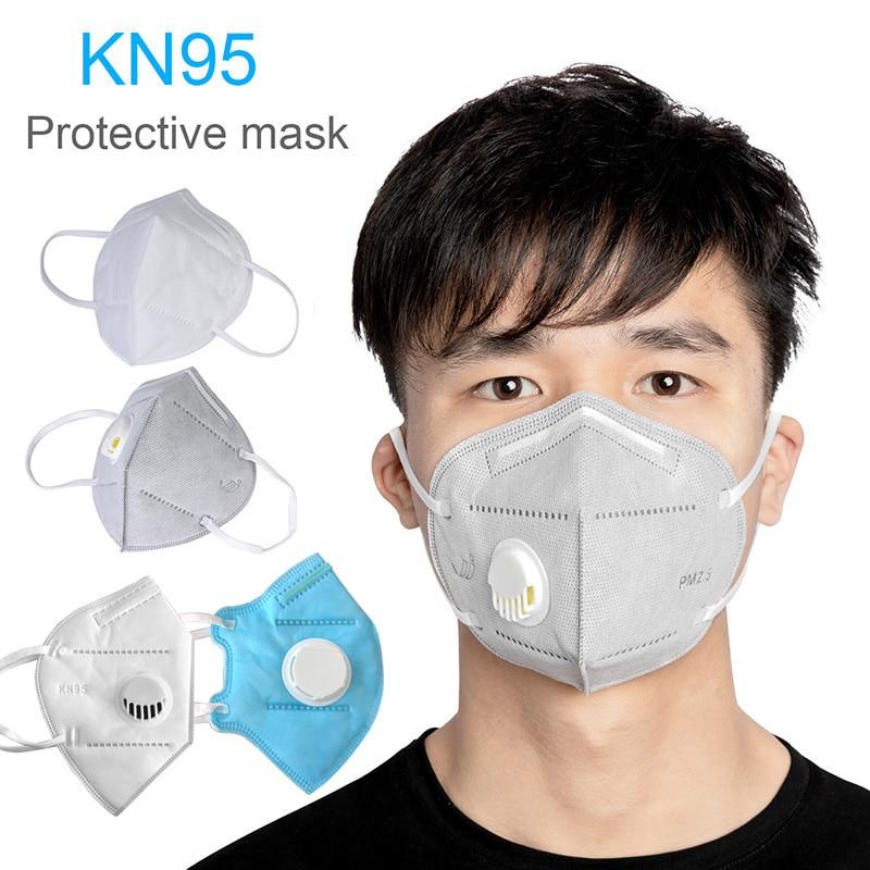Face Mask KN95 Respirator Valve Disposable Face Masks  Prevent Formaldehyde  Bacteria Proof  Face Mouth Mask 10 Pcs