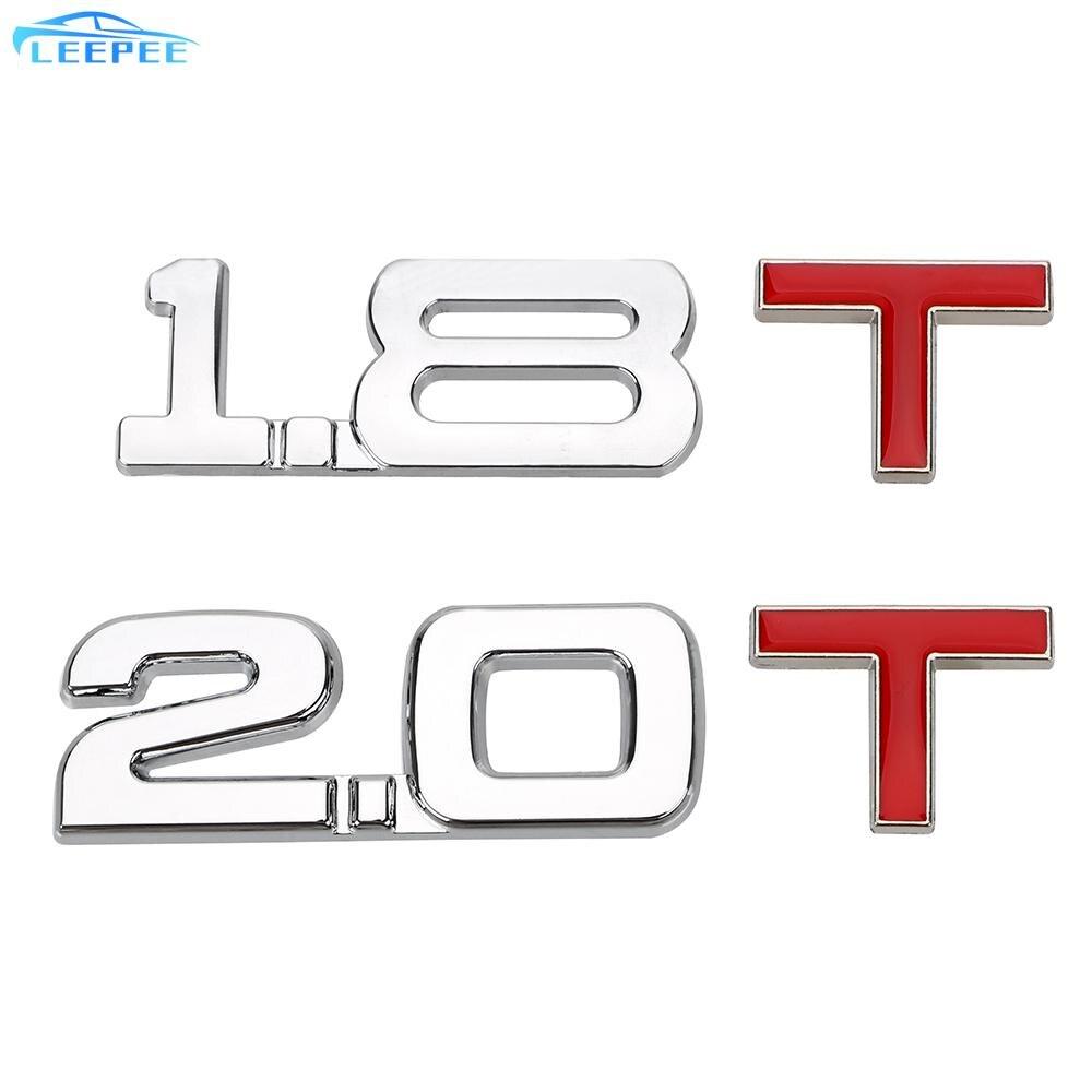 Auto naklejka uniwersalny 1.8 T 2.0 T znaczek z symbolem naklejki samochodowe 3D metalowy Cylinder objętość robocza Logo Truck