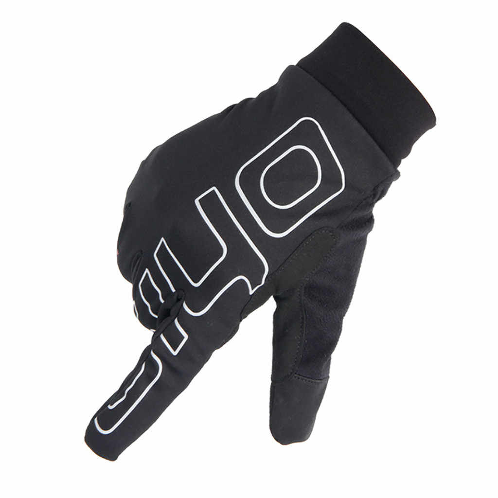 Зимние перчатки унисекс с сенсорным экраном, теплые перчатки для велоспорта, лыжные, походные, мотоциклетные перчатки, спортивный с полными пальцами