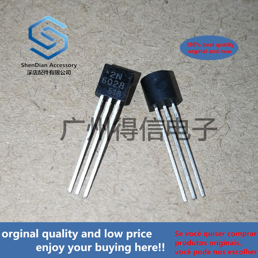 10pcs 100% New And Orginal 2N6028 6028 TO-92 PROGRAMMABLE UNIJUNCTION TRANSISTOR  In Stock