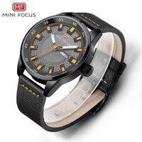 Fox Mini FOCUS Men Fashion & Sports Waterproof Calendar Genuine Leather Casual Quartz Watch Mf0027g