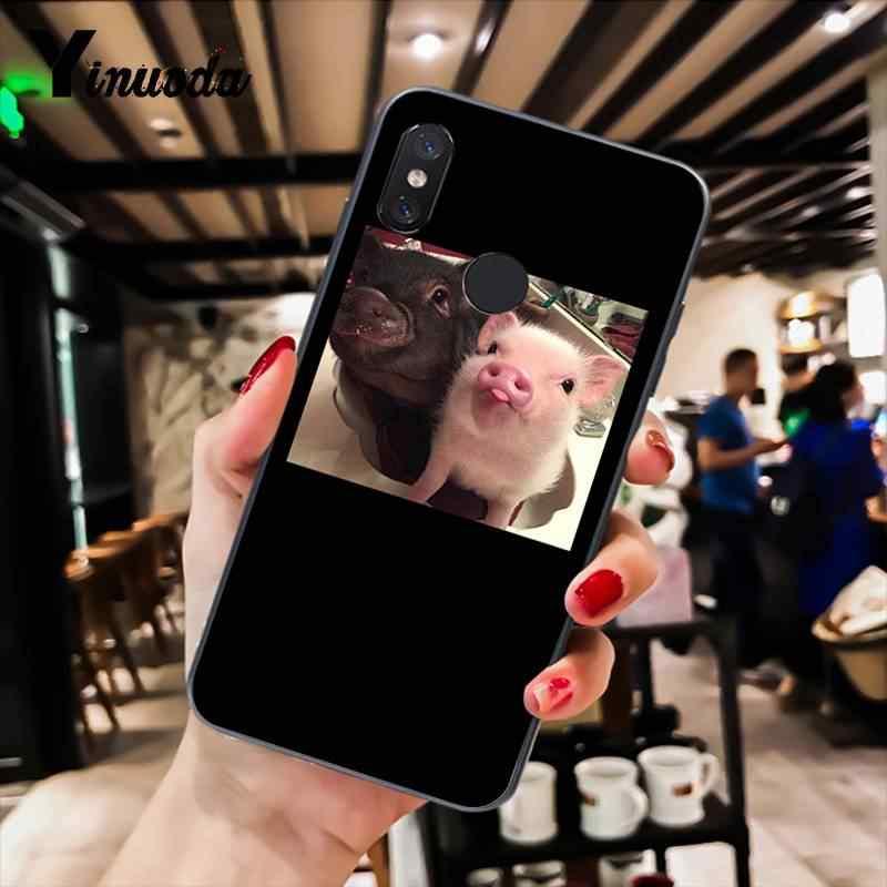 Yinuoda lindo cerdo Rosa cubierta del teléfono para xiaomi mi 6 mi X2 note3 rojo mi K20 rojo mi 7 xiaomi 8SE rojo mi note4 4X note5 5A