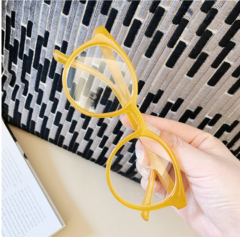 H610ac7a75f174412bae302f7095367422 - VWKTUUN Round Glasses Frame Vintage Soild Candy Color Eye Glasses Frames For Women Clear Lens Myopia Computer Glasses