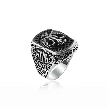 925 Silver Ottoman Rings For Men Silver Kayi Ring Resurrection Ertugrul Rings for Man
