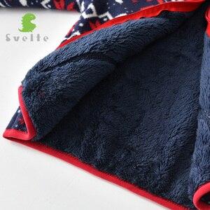 Image 3 - 2 9 yファッションキッズボーイズためしなやか裏地毛皮の厚さのフリース暖かい秋冬jakcetレトロコート上着子供服