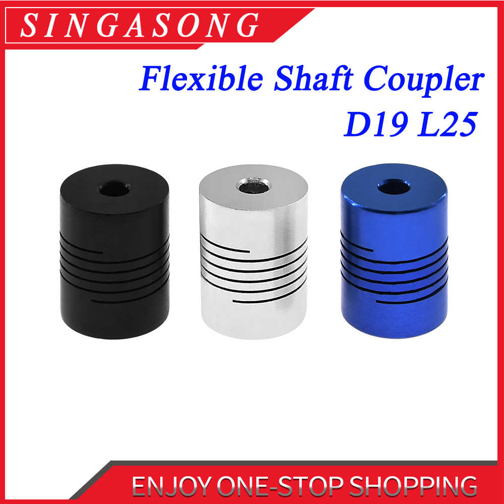 CNC Motor Jaw Shaft Coupler 5mm To 8mm Flexible Coupling OD 19x25mm D19 L25 wholesale Dropshipping 3/4/5/6/6.35/8/10mm