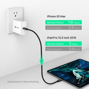 Image 4 - USB C Power Adapter 18W 30W 45W 60W 65W QC3.0 PD3.0 Charger For xiaomi USB C Laptops MacBook Pro/Air iphone 11 pro  iPad pro S10