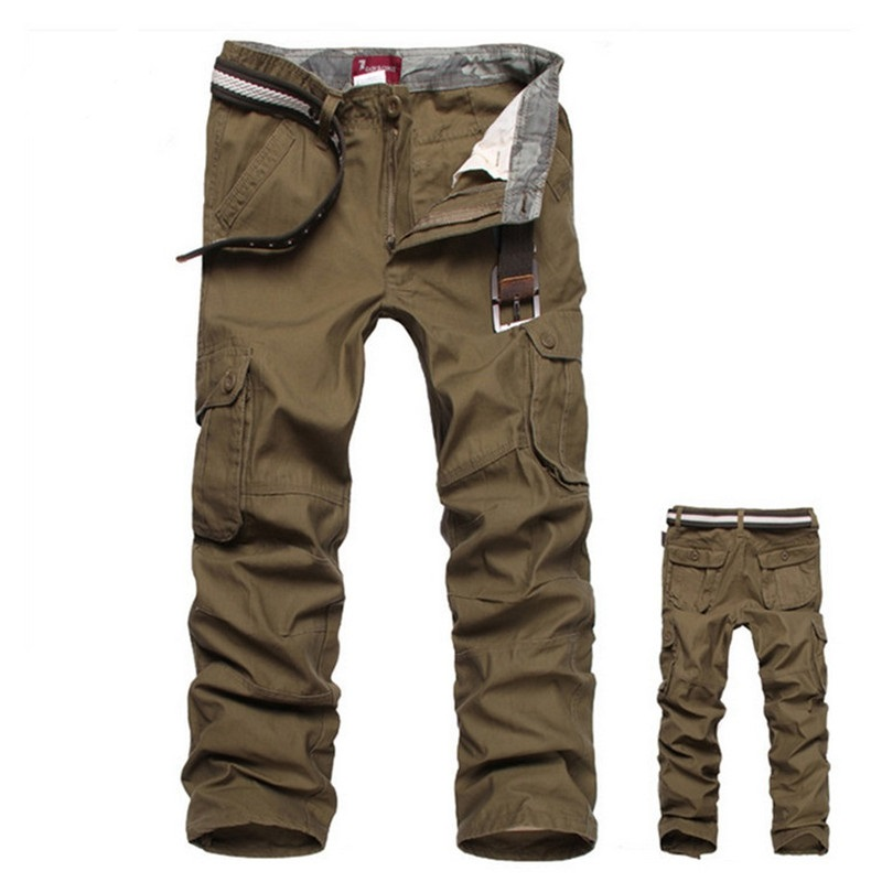 Pants Men Cargo Trousers Male Casual Multi Pocket Military Overall Loose Sweatpants Joggers Army Tactical Pants Men Size 31- 55