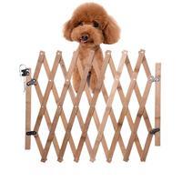 Pet Zaun Tor Versenkbare Einstellbar Hund Schiebetür Holz Indoor Hund Tor Tür Treppen Pet Welpen Sicherheit Zaun Parc Chiot