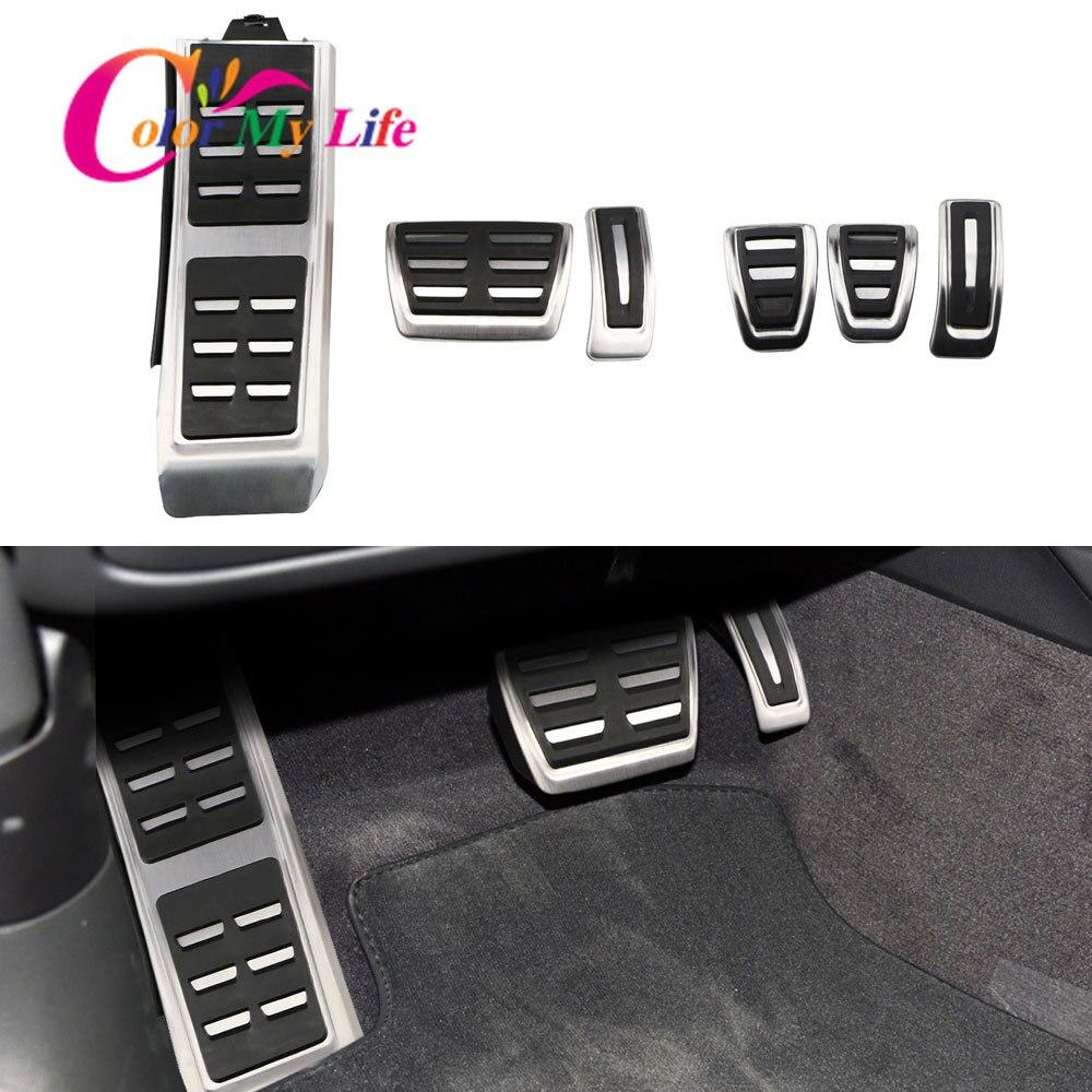 Coche Freno de combustible de reposapiés pedales aptos para Audi A4 B8 S4 RS4 Q3 A5 S5 RS5 8T Q5 8R SQ5 A6 C7 A7 S7 S6 4G A8 S8 A8L 4H Accesorios
