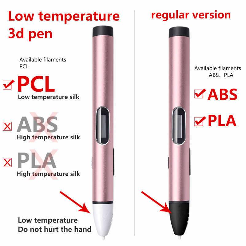 3d Pen 3d Pennen Lage Temperatuur, Beschermen Handen 3d Pen Doodler Smart Led Display 3d Tekening Pen-3d-pens, usb-Mobile Power