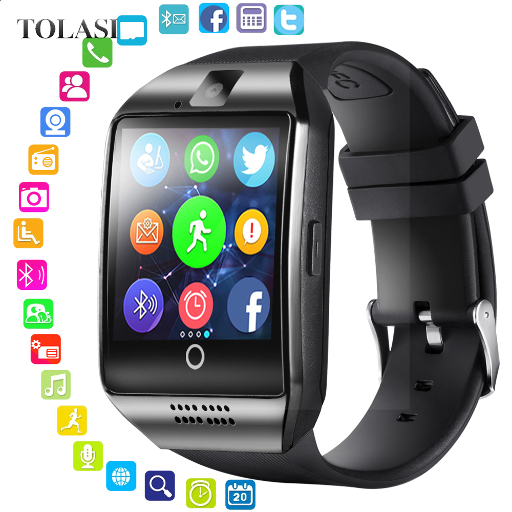 Smart-Watch Camera Activity-Tracker Fitness Bluetooth Android Reloj Sport with Q18 Bluetooth/Smartwatch/Sim/..