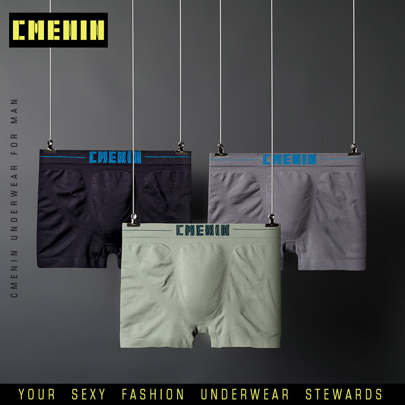 3Pc/lot New Brand Breathable Sexy Men Underwear Boxer Shorts Solid Innerwear Polyester Mens Boxershorts Underware Boxers Male