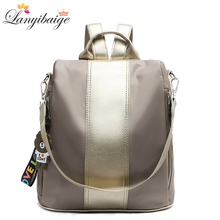 Sırt çantası kadın 2020 yeni moda okul sırt çantası seyahat sırt çantaları su geçirmez Oxford bez kadın çantası rahat omuz çantaları mochila