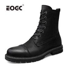 Plus Größe Warme Männer Stiefel Natürliche Leder Pelz Plüsch Knöchel Schnee Stiefel Männer Lace Up Outdoor Herbst Winter Schuhe Arbeits stiefel