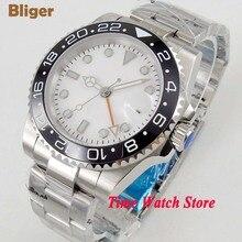 Bliger 40mm GMT Automatic wrist watch men Sapphire glass waterproof pil