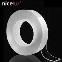 Nano Double Sided Tape Recycle Use Strong Adhesive Waterproof Transparent Super Fix Gel Grip Tape Home Improvement