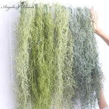 Longo ar pendurado videira grama plantas artificiais diy decoração do casamento jardim natal casa verde plantas parede de plástico flores teto