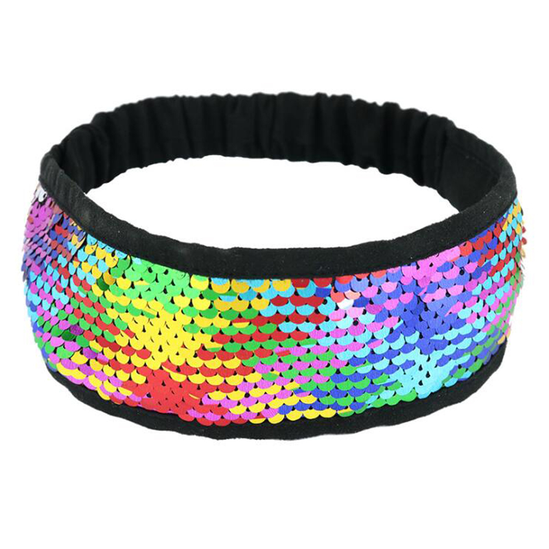 Fashion European And American Style Ladies Hair Band Double Sided Flip Color Sequins Ladies Hair Band in Hair Accessories from Mother Kids