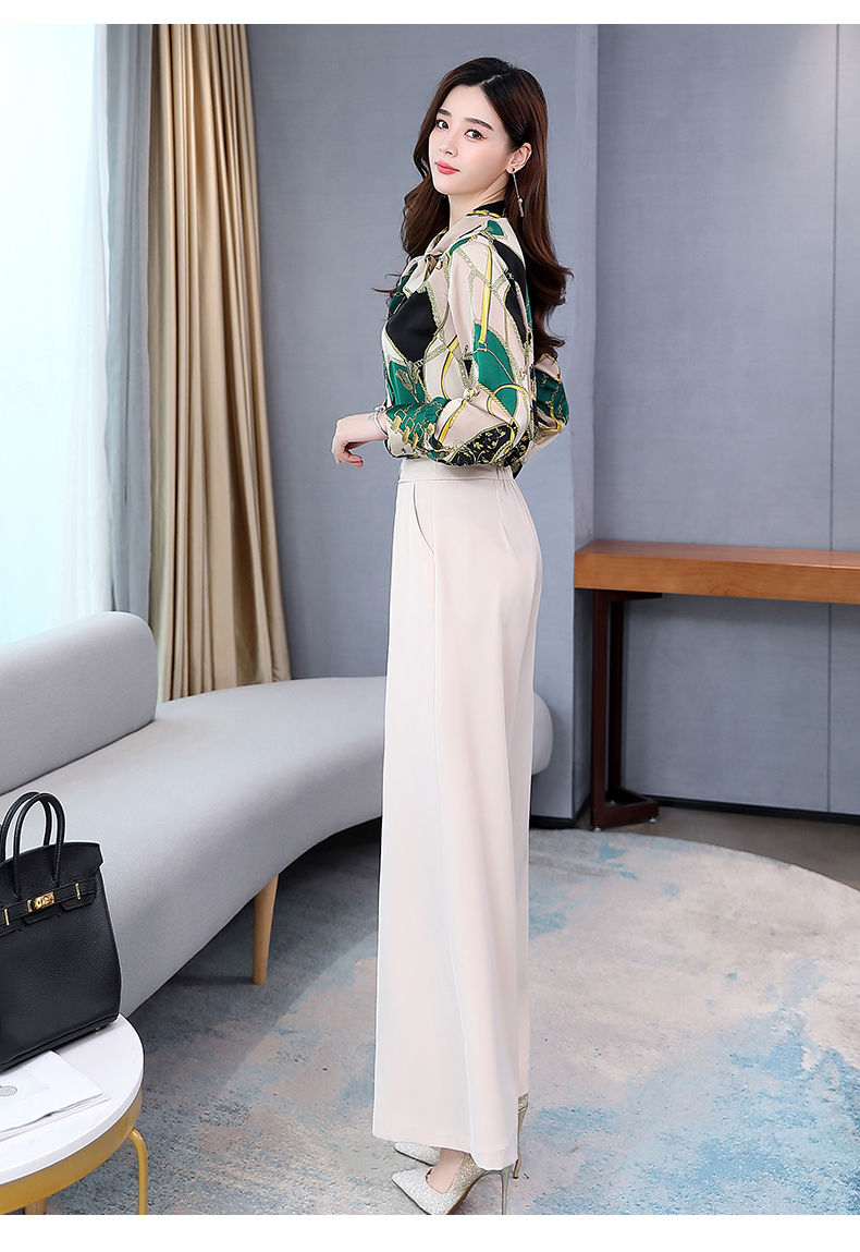 H610bdfc13ea64ad0a095b7ce2686756a6 - Summer Two Piece Set OL Women Sets Plus Size Two Piece Set Top And Pants Wide Leg Pants Woman Tracksuit /outfit/suit/Set 2 Piece