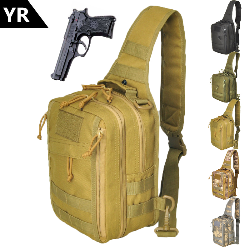 YR 1000D Can be loaded pistol Sport Hunting Men Military Tactical chest MOLLE Single Shoulder bags Nylon Wading Chest Pack image