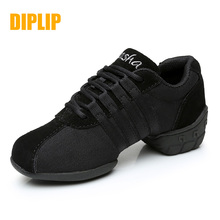 DIPLIP new modern dance shoes soft bottom jazz shoes sports dance shoes breathable outdoor womens shoes size 34 45