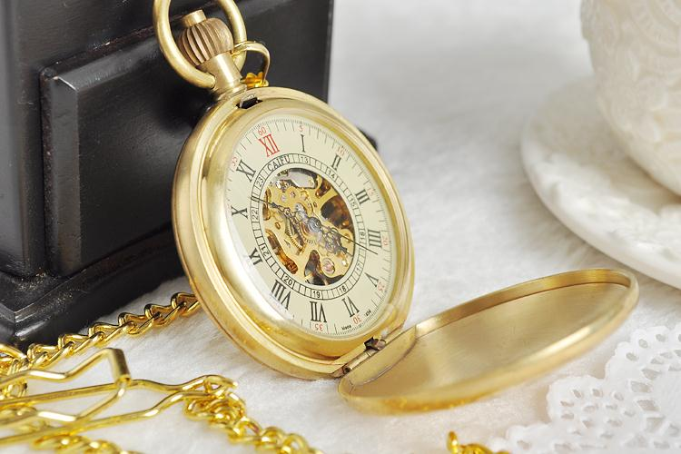 Vintage-Watch-Manufacturers-Style-Copper-Case-Pocket-Watch-with-Chain-Mechanical-Hand-Winding-Top-Quality-Best (3)
