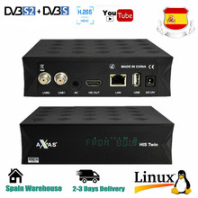 Axas seu gêmeo DVB-S2/s hd enigma 2 receptor de tv por satélite wi-fi + linux e2 aberto atv h.265 caixa tv decodificador de gordura