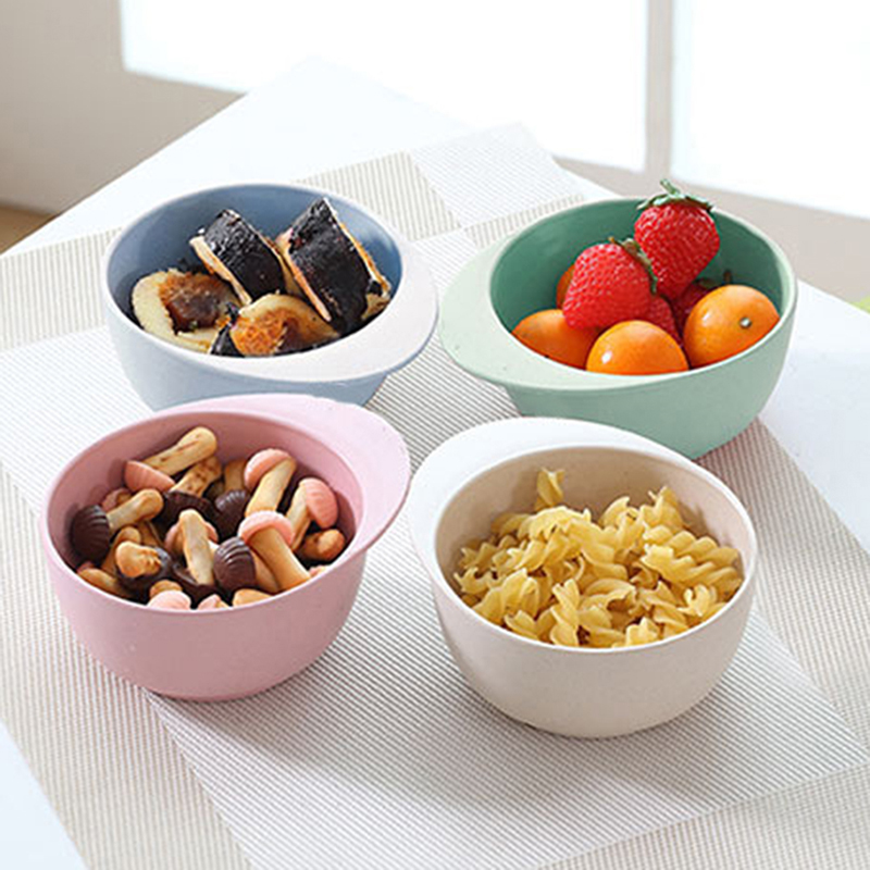 Cute Cartoon Mickey Children's Plate Creative High Quality Bamboo Fiber Noodle Dish Children Fruit Salad Soup Bowl
