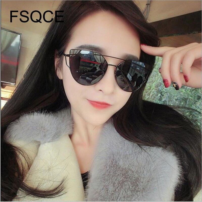 Негабаритные солнцезащитные очки модный бренд кошачий глаз солнцезащитные очки женские двухлучевые солнцезащитные очки ретро очки с зерк...
