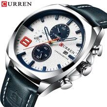 2019 mężczyźni zegarki Top marka luksusowe CURREN wojskowy analogowy zegarek kwarcowy męska sportowy zegarek Relogio Masculino wodoodporny 30M
