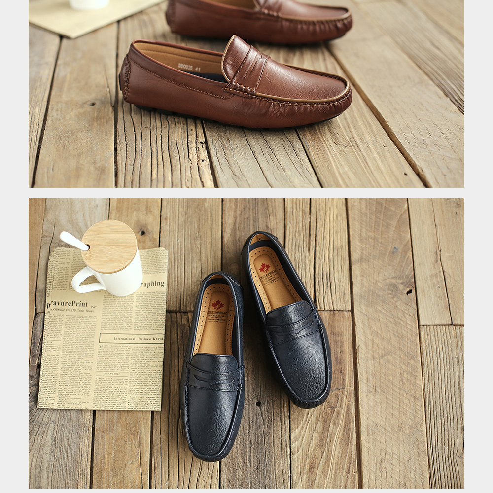 H610c84cd0a574decb88bee7fde73bfc4e Men's Casual Shoes Men Moccasins Autumn Fashion Driving Boat Shoes Male Leather Brand Slip-On Classic Men's shoes Loafers