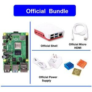 Image 3 - Raspberry pi 4 modelo b 4b oficial, com 1 / 2 / 4 gb de ram, 1.5ghz 2.4/5.0 ghz wifi bluetooth 5.0 caso cooling dissipador de calor fonte de alimentação