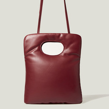 Vintage Sapce Padded Women Handbag Designer Lady Bag Luxury Pu Leather Down Cotton Shoulder Crossbody Bag Small Tote Winter 2021