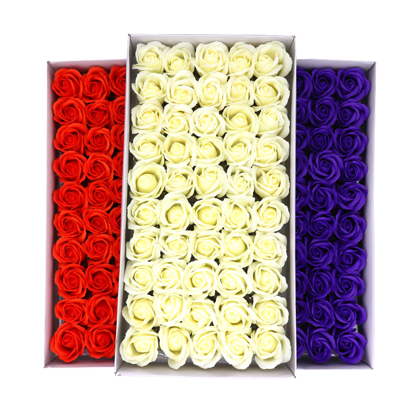 50Pcs/Lot Floral Scented Rose Soap Flower Petal Bath Body Soap Wedding Party Valentines Day Mothers Day Teacher'S Day Gift