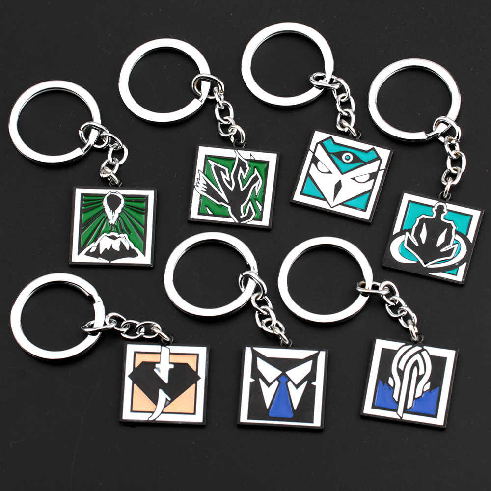Game Rainbow Six 6 Siege Keychain Keyring Portachiavi Llaveros Men Women Fashion Jewelry Wamai Kali Amaru Nokk Key Chains Gift
