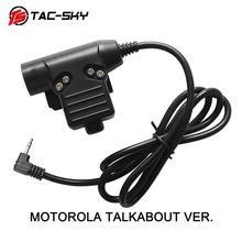 TAC SKY U94 PTT MOTOROLA TALKABOUT VER 1pin wtyczka akcesoria do słuchawek PTT U94 taktyczna wojskowa zestaw słuchawkowy walkie talkie adapter