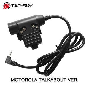 Image 1 - TAC SKY U94 PTT MOTOROLA TALKABOUT VER 1pin wtyczka akcesoria do słuchawek PTT U94 taktyczna wojskowa zestaw słuchawkowy walkie talkie adapter