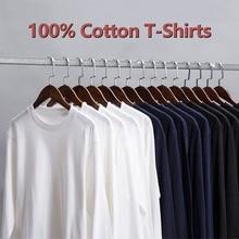 Spring Autumn Male Long Sleeve T-Shirts Men Cotton Summer Female Basic Tshirts Women Plain Brand Slim Tees Shirt Solid Underwear