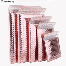 50 PCS/Lot Rose Gold Plastic Bubble Envelopes Bags,  Padded Shipping Envelope, Waterproof Bubble Bags