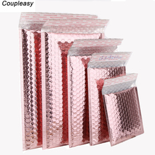 50 Teile/los Rose Gold Kunststoff Blase Umschläge Taschen, Gepolstert Versand Umschlag, Wasserdichte Blase Taschen