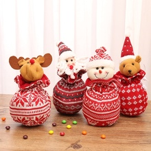 Christmas Knitted Candy Gift Apple Bag Cute Xmas Drawstring Gift Bags