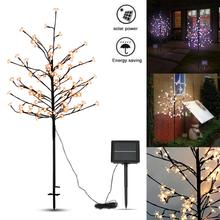 Solar Landscape Lights Waterproof 1.5M 104 LED Solar Cherry Tree Light for Garden / Party / Wedding / Christmas Decoration